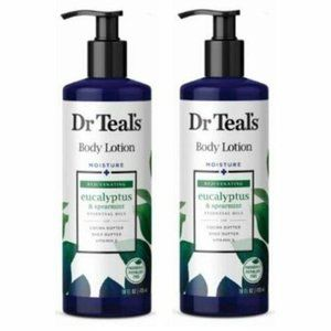 Lot of 2 DR TEAL'S Body Lotion Rejuvenating Eucaly